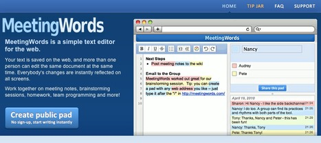 MeetingWords: Realtime Collaborative Text Editing | Engaging students in the 21st century | Scoop.it
