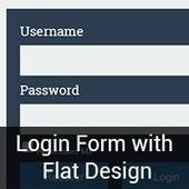Creating a Login Form with Flat Design - Andor Nagy | Web Design | Scoop.it