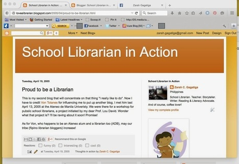 School Librarian in Action: SLIA: A Decade of Blogging   School Librarian In Action @ Scoop It!   Scoop.it