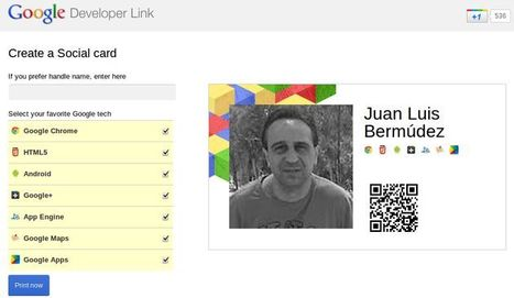 Create a Social Card, crea tu tarjeta de presentación con tu perfil de Google | Recull diari | Scoop.it