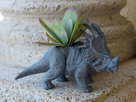 How to Upcycle a Dinosaur Toy into a Succulent ... - Sweet Greens | Creative Reuse | Scoop.it