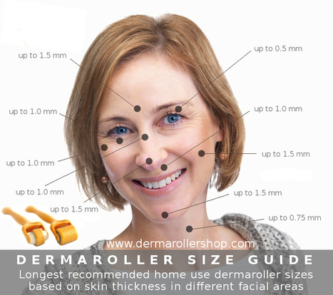 Dermaroller Size Guide Based On Facial Skin Thickness | Dermarollers & Skin Care | Scoop.it