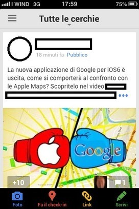 Google Plus Mobile si rinnova in nome della semplicità | Google+ Marketing All News | Scoop.it
