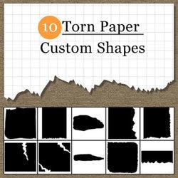 Torn Paper Photoshop Shapes | PSDDude | Photoshop | Scoop.it