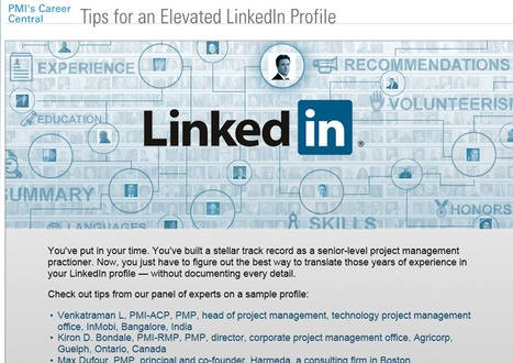 Tips for an Elevated LinkedIn Profile | PMI Career Central | IT- BIAS Corporation | Scoop.it