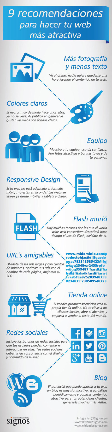 9 recomendaciones para hacer tu web más atractivo #infografia #infographic #marketing   Enriquecer vocabulario   Scoop.it