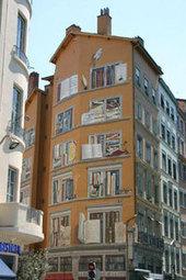 Fresque « La bibliothèque de la cité »- Site Officiel de la Ville de Lyon | CITECREATION | Scoop.it