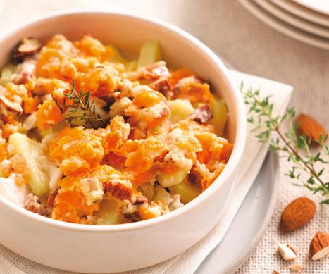 Crumble de pommes de terre, mimolette et colin | The Voice of Cheese | Scoop.it