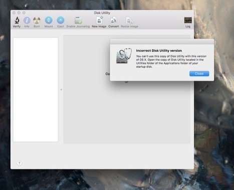 Editorial: Apple's new Disk Utility nearly slain by the feature thief | MacNN | Macs and iPads | Scoop.it