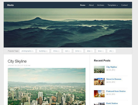 12 New Free Responsive Wordpress Themes [June 2012] | Design Inspiration | responsive  wd | Scoop.it