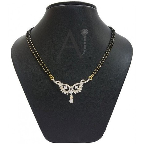 Pear Drop Mangalsutra set | American Diamond Jewellery | Scoop.it