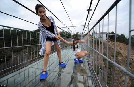 China's spectacular glass-bottomed bridge opens today | Xposed | Scoop.it