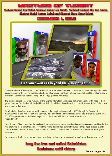 The Martyrs of Turbat, Balochistan | Human Rights and the Will to be free | Scoop.it