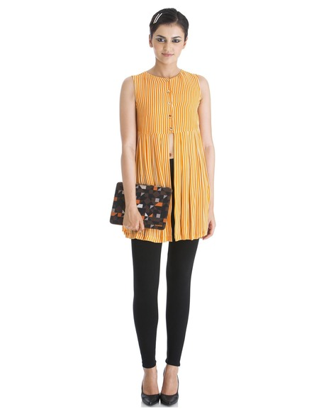 Buy the sleeveless 'pleated love' top by Yogesh Chaudhary - Stylista   Stylista   Scoop.it
