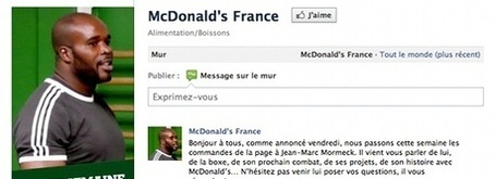 Jean-Marc Mormeck, nouveau Community Manager de McDonald's | marketing sportif | Scoop.it
