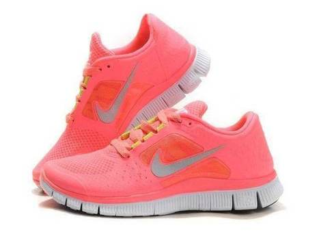 Authentic Unisex Nike Free Run 3 Womens Neon Pink Coral Silver | nike free pink | Scoop.it