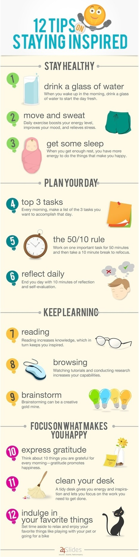 12 Tips on Staying Inspired #nfographic | Women's leadership | Scoop.it