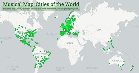 Musical Map: Cities of the World | MUSIC:ENTER | Scoop.it