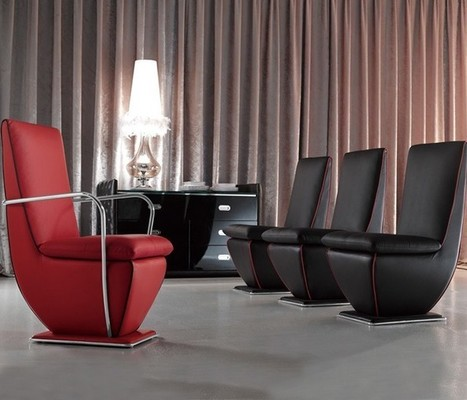 Modern Metro Center Based Leather Chairs | MeublesBH | Scoop.it
