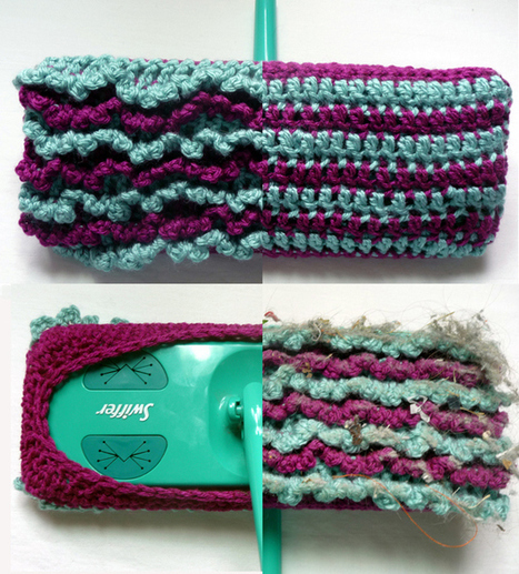 CRAFT Pattern: Crocheted Reversible Swiffer Sock | Kate's Topics | Scoop.it