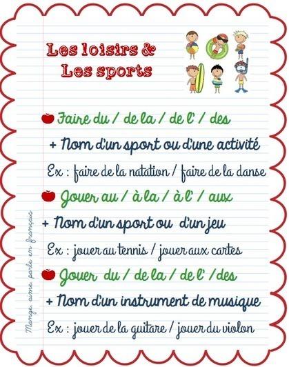 Mange, aime, parle en français.: Faire de / Jouer à / Jouer de | Parle en français! | Scoop.it