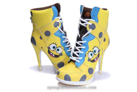 Sale Spongebob Squarepants Nike SB Dunk High Heels • hardloopschoen's Blog | Superman Nike Shoes Superhero Dunks | Scoop.it