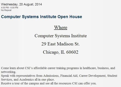 Computer Systems Institute | Computer Systems Institute | Education and Chicago from CSI | Scoop.it