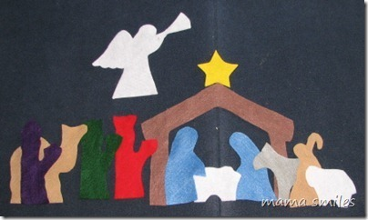 Felt silhouette nativity | Simple Christmas | Scoop.it