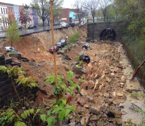 Block-Long Sinkhole Swallows Cars in Baltimore | Geography Education | Scoop.it