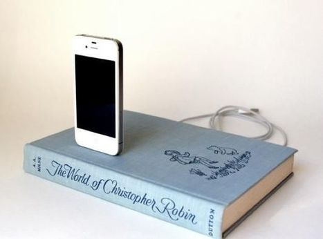 Book Chargers cleverly hide your iPhone dock in a vintage hardcover book   Google Lit Trips: Reading About Reading   Scoop.it