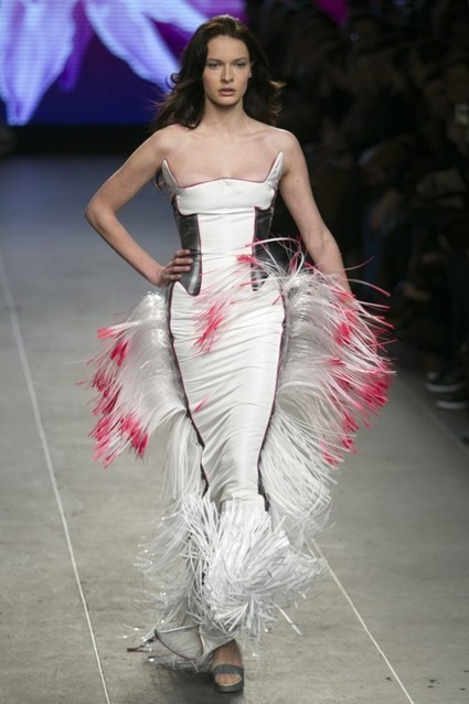 Nightwalk - Dress by Julien Fournie as part of his Haute... | FashionLab | Scoop.it