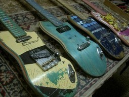 Shred Again: Old Skateboards Become Electric Guitars - Visual News | Tune Town Talk | Scoop.it