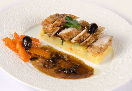 Poulet à l'italienne, olives noires et polenta arlequin - Et si c'était bon... | recipes chicken, meat | Scoop.it