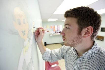 Graphic design student transforms pediatric office walls - New Jersey Herald | Graphic design tips | Scoop.it