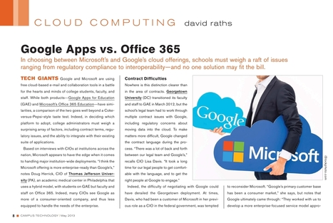 Google Apps vs. Office 365 - Schools Must Weigh Issues from Regulatory Compliance to Interoperability | Higher Education & Privacy | Scoop.it