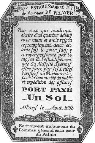 Réforme postale en 1849 etbillet de port payé, ancêtredu timbre-poste en 1653 | GenealoNet | Scoop.it