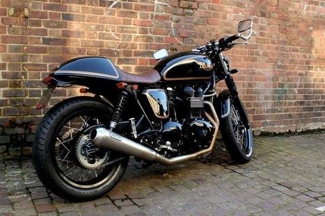 "TRIUMPH THRUXTON ""THE BLACK PRINCE"" | Vintage Motorbikes | Scoop.it"