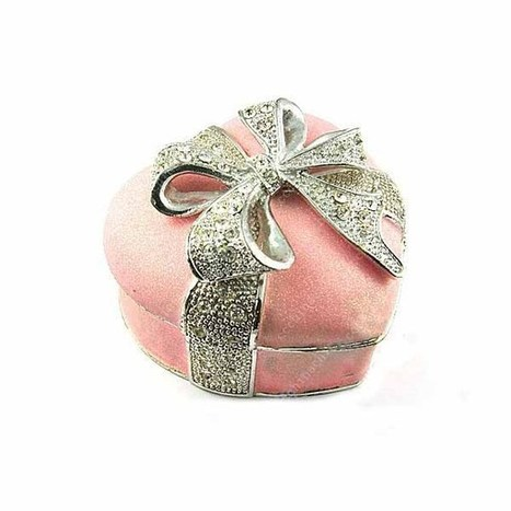 New Jewelry Box/Elegant Design Special Rhinestone Heart Shape With A Bow/Butterfly Pink Color Alloy Jewelry Storage Box Case Container - US$ 45.21 | women fashion accessories | Scoop.it