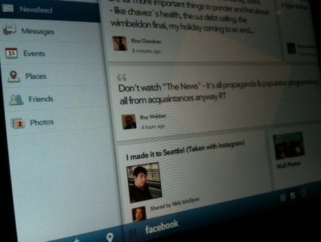 HP tablet to get Facebook app before iPad? | Technology and Gadgets | Scoop.it