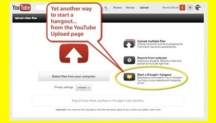 Another way to start a Hangout - from the YouTube Upload Page | Ronnie Bincer | Mobile Websites vs Mobile Apps | Scoop.it