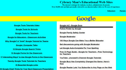 Cybrary Man's Google Page | Google Sites Resources | Scoop.it