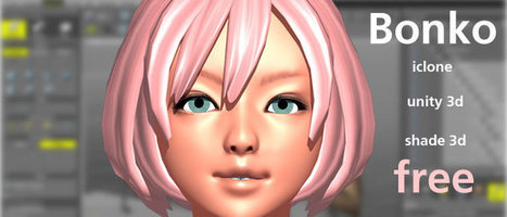 Free Bonko Girl Character for Shade 3D, Unity 3D & iClone | 3D animation transmedia | Scoop.it