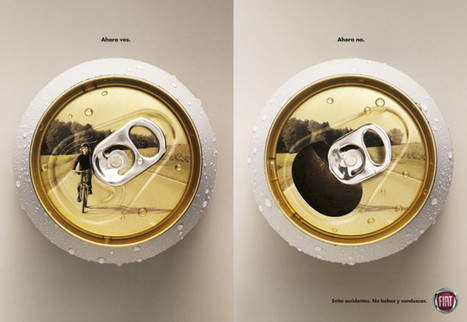 Anti drink-driving poster by Fiat in Brazil: Now you see it, now you don't | CycleLove | Creative Innovation | Scoop.it