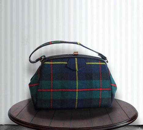 Vintage Scottish Plaid Wool Handbag - Plaid Handbag - Handbag - Made in Scotland | DustyDesert vintage | Scoop.it