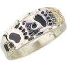 Men's Black Hills Gold Silver Bear Track Ring - Christmas Gifts | Christmas Gifts For Every Occasion | Scoop.it