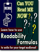 FREE READABILITY FORMULAS TOOLS : FREE READABILITY TESTS FOR YOUR TEXT | Ken's Odds & Ends | Scoop.it