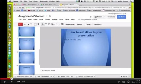 Excellent Tutorials to Help You Create Presentations on Google Drive ~ Educational Technology and Mobile Learning | Moodle and Web 2.0 | Scoop.it