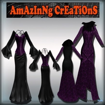 Gothic Dress Group Gift by AmAzINg CrEaTiOnS | Teleport Hub - Second Life Freebies | Second Life Freebies | Scoop.it