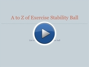 A to Z of Exercise Stability Ball | Exercise Stability Ball | Scoop.it