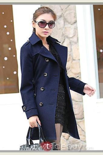 Multi Color Double Breasted Thicken Trench Coat   fashion   Scoop.it